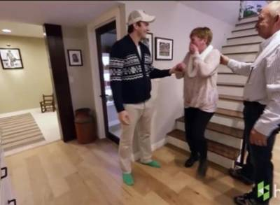 Ashton kutcher puts all mother s day gifts to shame see what he did for his mom one news page - A dream basement ashton kutchers surprise for his mom ...